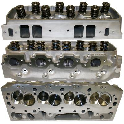 Brodix 345 Rectangle Port Big Block Chevy Cylinder Heads